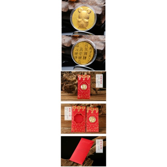 Rat Red Packet Ang Bao With Gold Coin