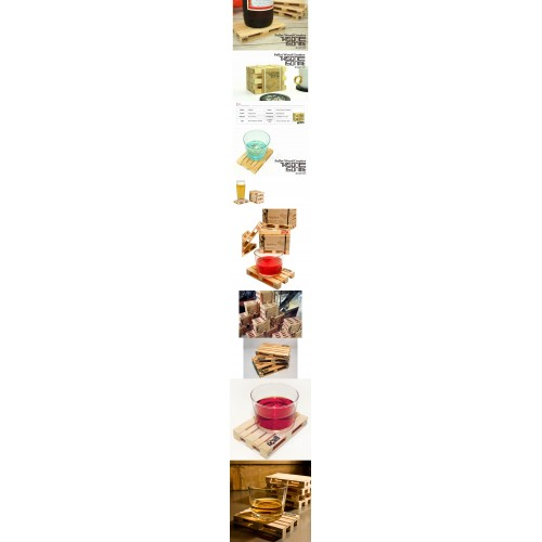 Pallet Wood Coaster (Set Of 4)