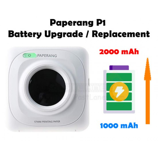Paperang P1 Battery Upgrade / Replacement