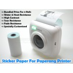 Premium Sticker Thermal Paper (4 Rolls) For Paperang / Receipt Printer