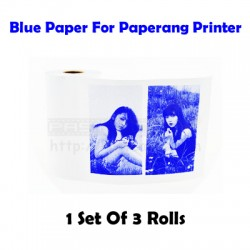 Blue Thermal Paper (3 Rolls) For Paperang / Receipt Printer