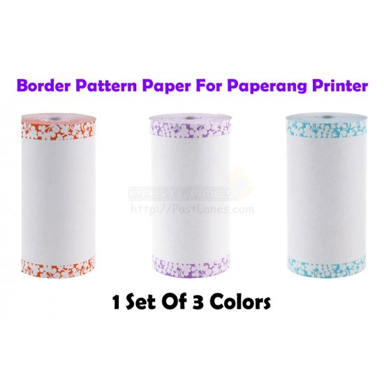 Border Pattern Thermal Paper (3 Rolls) For Paperang / Comicam / Peripage / Receipt Printer
