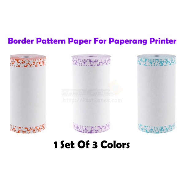 Border Pattern Thermal Paper (3 Rolls) For Paperang / Receipt Printer