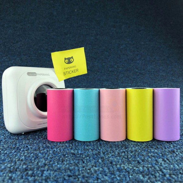 Colored Thermal Sticker Paper For Paperang / Receipt Printer