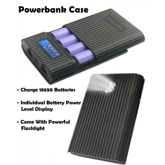 DIY Powerbank Case With LCD Display