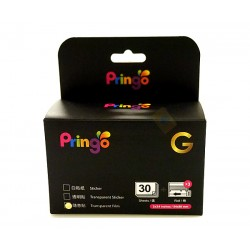 Hiti Pringo P231 Transparent Photo Paper And Ink Ribbon (Gold 30 Sheets)