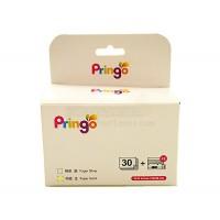 Hiti Pringo P231 Photo Paper And Ink Ribbon (Gold 30 Sheets)