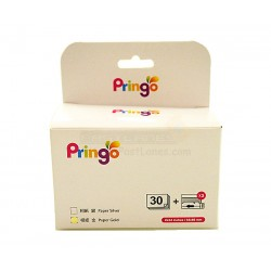 Hiti Pringo P231 Photo Paper And Ink Ribbon (Gold 30 Sheets)