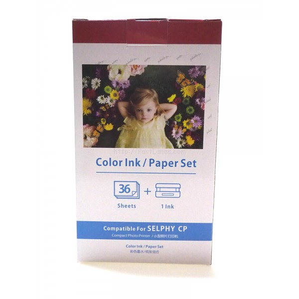 Compatible KP-36IN (KP36-IP) Color Ink Photo Paper Set For Canon Selphy Printer
