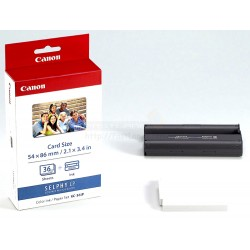 Canon KC-36IP Color Ink Photo Paper Set For Selphy Printer