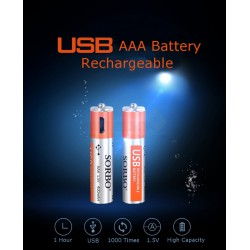 Sorbo AAA USB Rechargeable Batteries [4pcs]