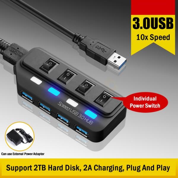 4 Ports USB 3.0 Hub