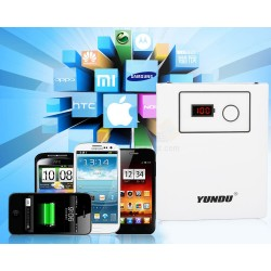 Yundu 10,000mAh Powerbank With LCD Battery % Level Display