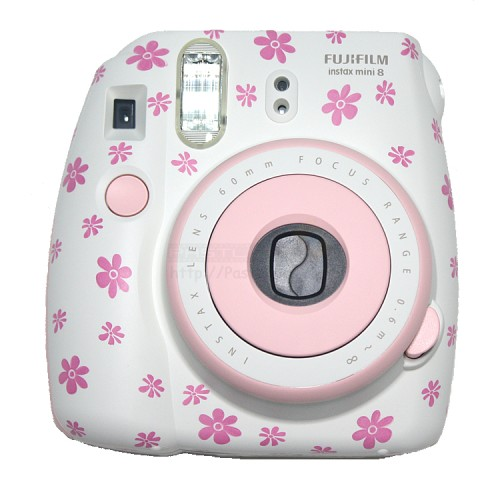 instax mini 8 polaroid camera pink floral. Black Bedroom Furniture Sets. Home Design Ideas