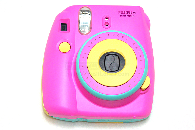 Instax Mini 8 Polaroid Camera Pink Blue Yellow Mixed
